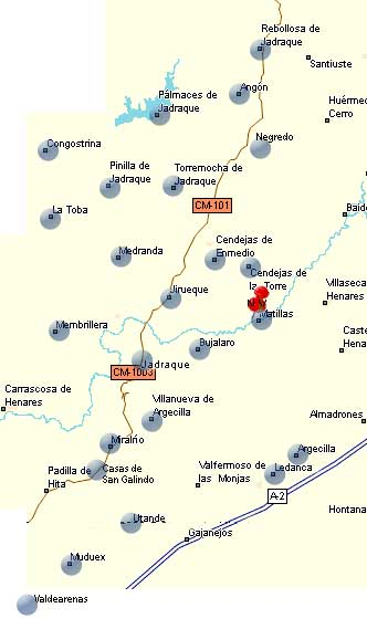 Zona de Cobertura de la mancomunidad Alto Henares-Badiel