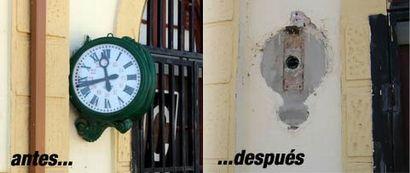 Reloj de la estación