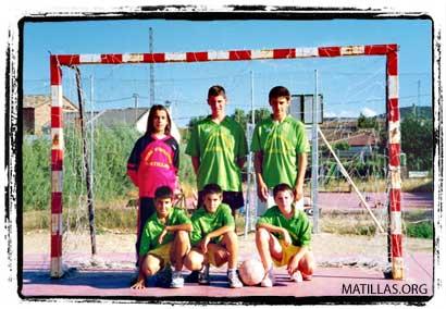 Equipo de Futbol Sala de Matillas. Hace unos pocos años
