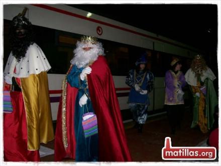 Llegada de los reyes a la estación
