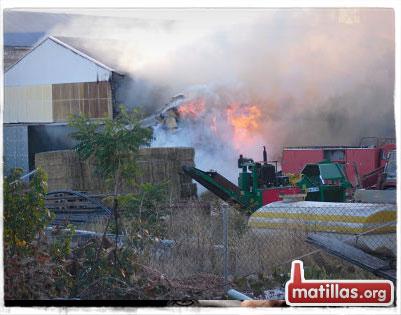 Incendio en Agrosa Matillas