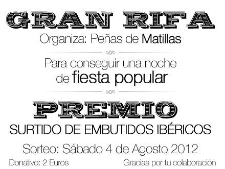 Rifa fiestas 2012