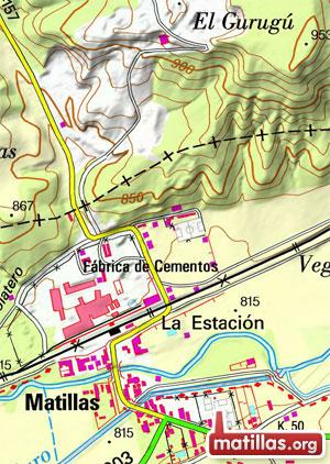 Mapa Topográfico Matillas