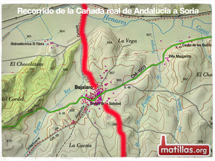 Recorrido Caña Real de Andalucia a Soria