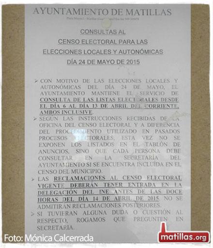 Consulta censo electoral 2015