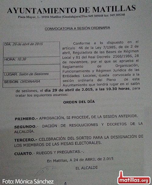 Pleno Ordinario 29 Abril 2015