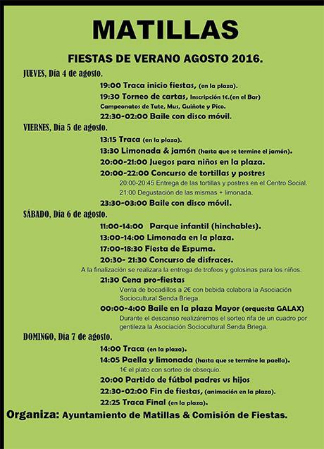 Programa de Fiestas de Verano 2016