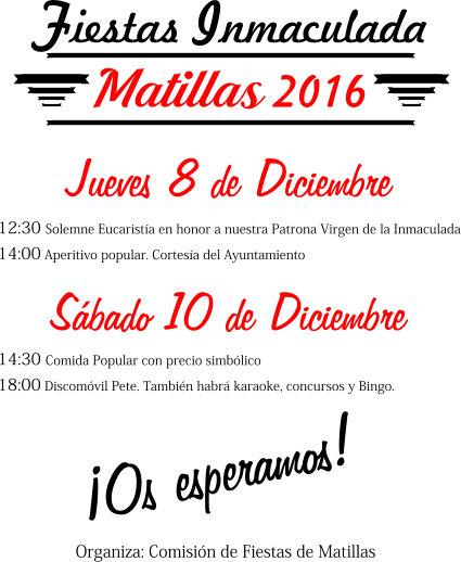 Fiesta Inmaculada 2016