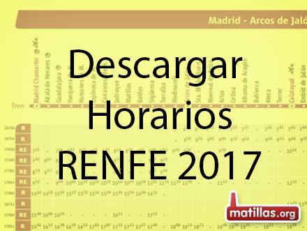 Horarios Renfe 2017 Enero