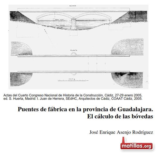 Plano puente de Matillas 1880
