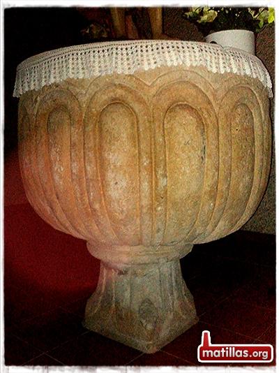 Pila bautismal románica Matillas