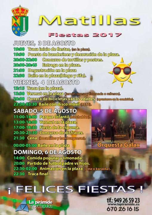 Matillas Fiestas 2017
