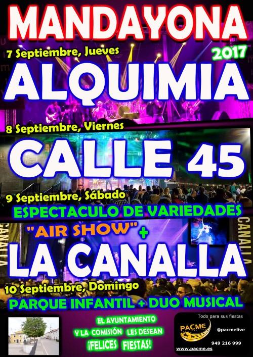 Fiestas Mandayona 2017