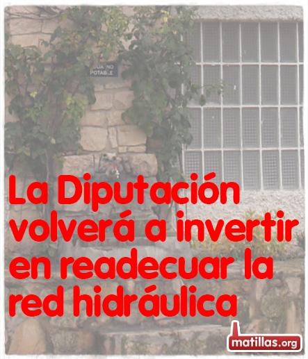 Inversiones Diputación Red Agua Matillas