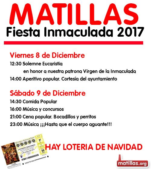 Programa Fiestas Inmaculada 2017