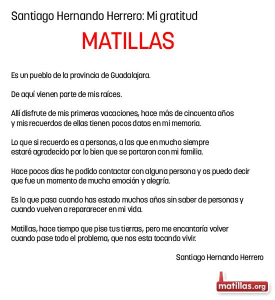 Santiago: Mi gratitud
